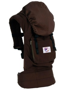 ERGObaby_organic_cotton_baby_carrier_chocolate